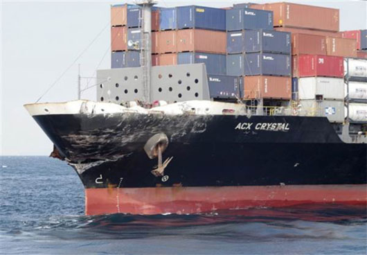 Very Odd Collision Between US Warship and Pilipino Container Ship