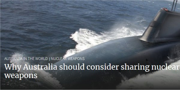 Australia to Develop Nuclear Weapons?