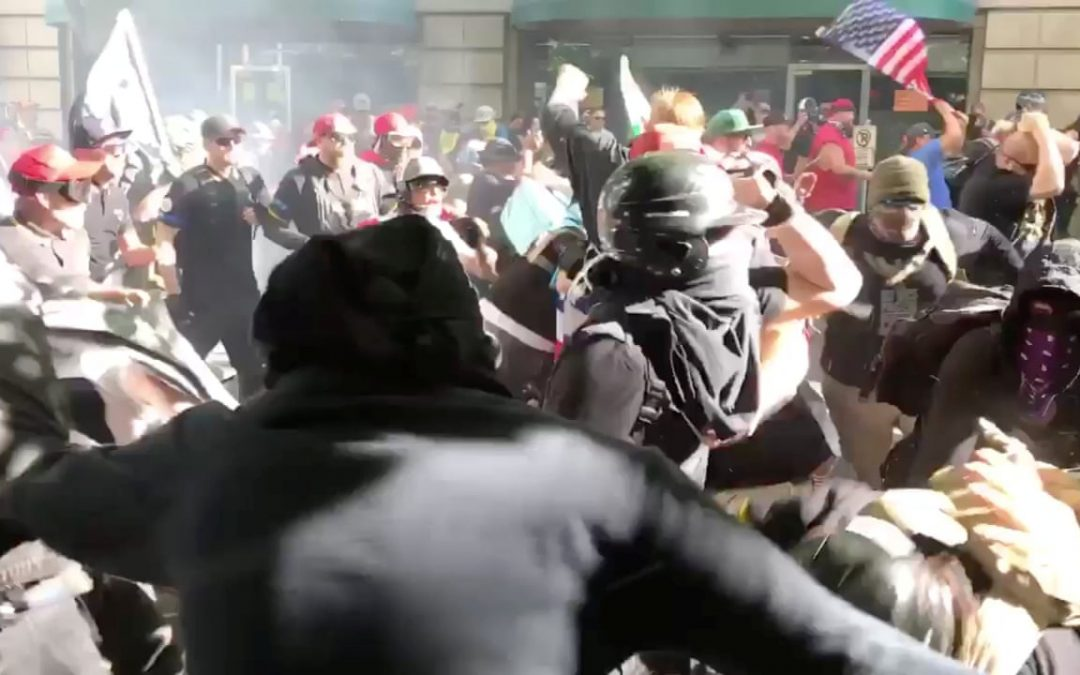 STREET CLASHES BREAKING OUT IN U.S. CITIES