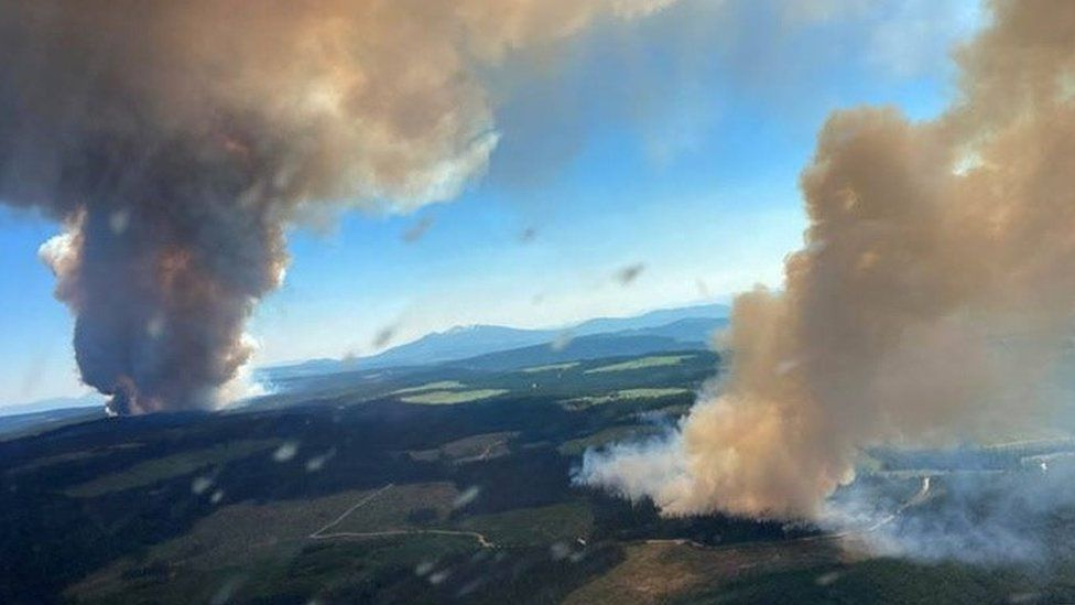 WILDFIRES CAUSE SEVERE SUPPLY-CHAIN PROBLEMS WITH CANADIAN RAILROADS DISRUPTED